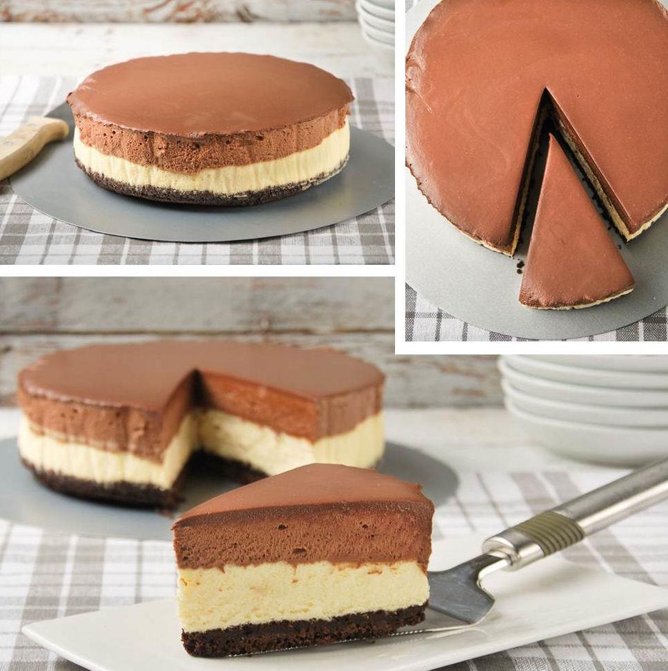 Cheesecake et mousse au chocolat2