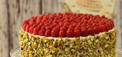 Gâteau aux framboises et pistache1