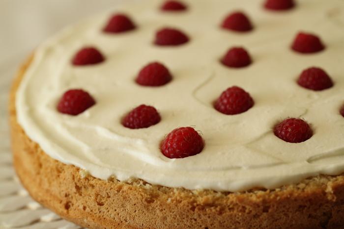 Gâteau aux framboises et pistache3