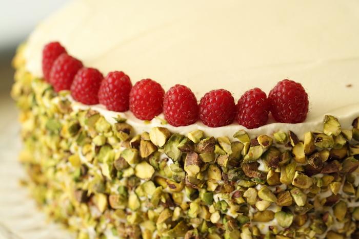 Gâteau aux framboises et pistache6