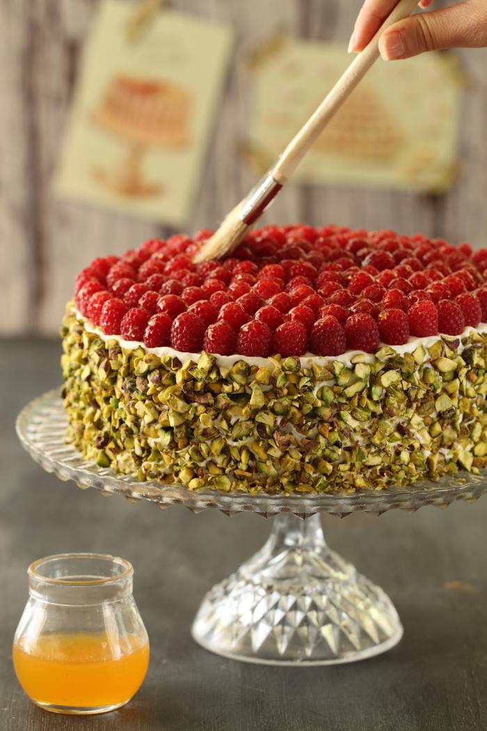Gâteau aux framboises et pistache7