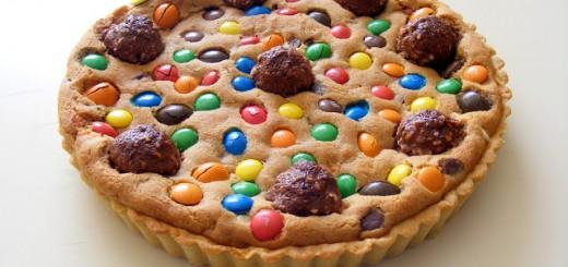 La tarte cookies aux pépites de chocolat et M&Ms1