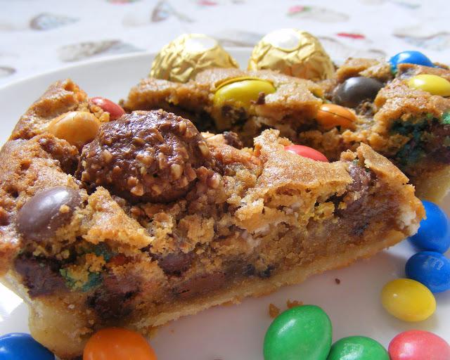La tarte cookies aux pépites de chocolat et M&Ms2