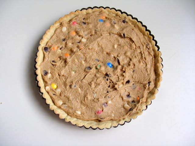 La tarte cookies aux pépites de chocolat et M&Ms3