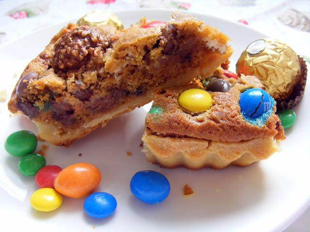 La tarte cookies aux pépites de chocolat et M&Ms5