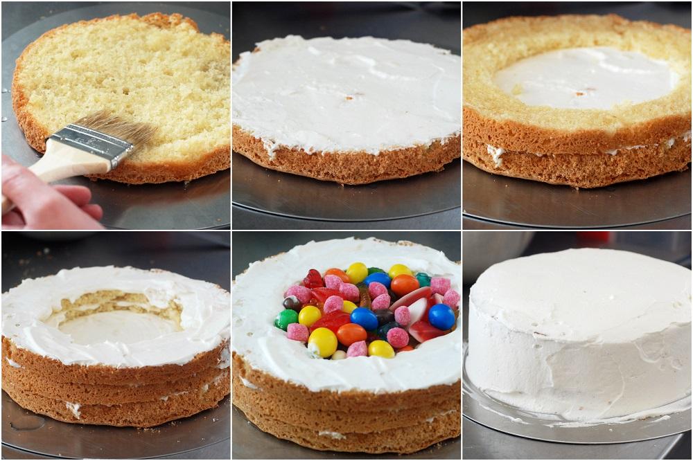 GÂTEAU SURPRISE, LE PINATA CAKE2