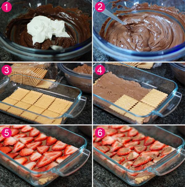 Gâteau petits beurre chocolat et fraises2