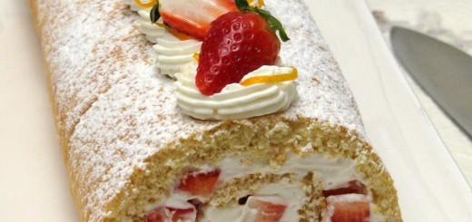 Gâteau roulé aux fraises2