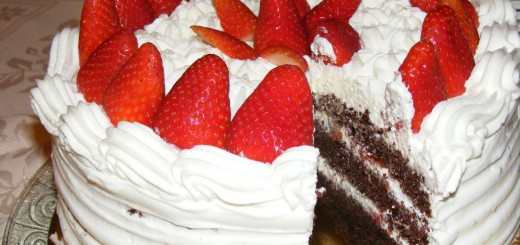 Layer cake fraises chocolat et chantilly au mascarpone1