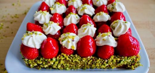 Tarte fraises et pistache façon Christophe Michalak1