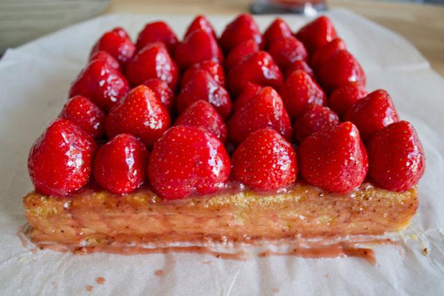 Tarte fraises et pistache façon Christophe Michalak6