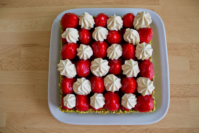 Tarte fraises et pistache façon Christophe Michalak8
