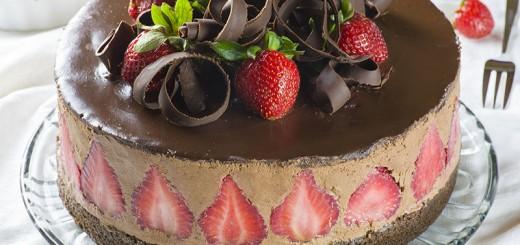 Le fraisier au chocolat1
