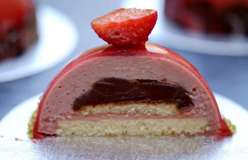 Dôme Fraise chocolat2