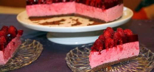 Gâteau mousse de framboise1