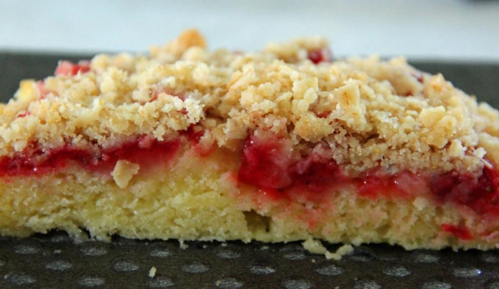 Gâteau crumble aux fraises1