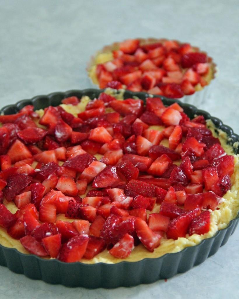 Gâteau crumble aux fraises3