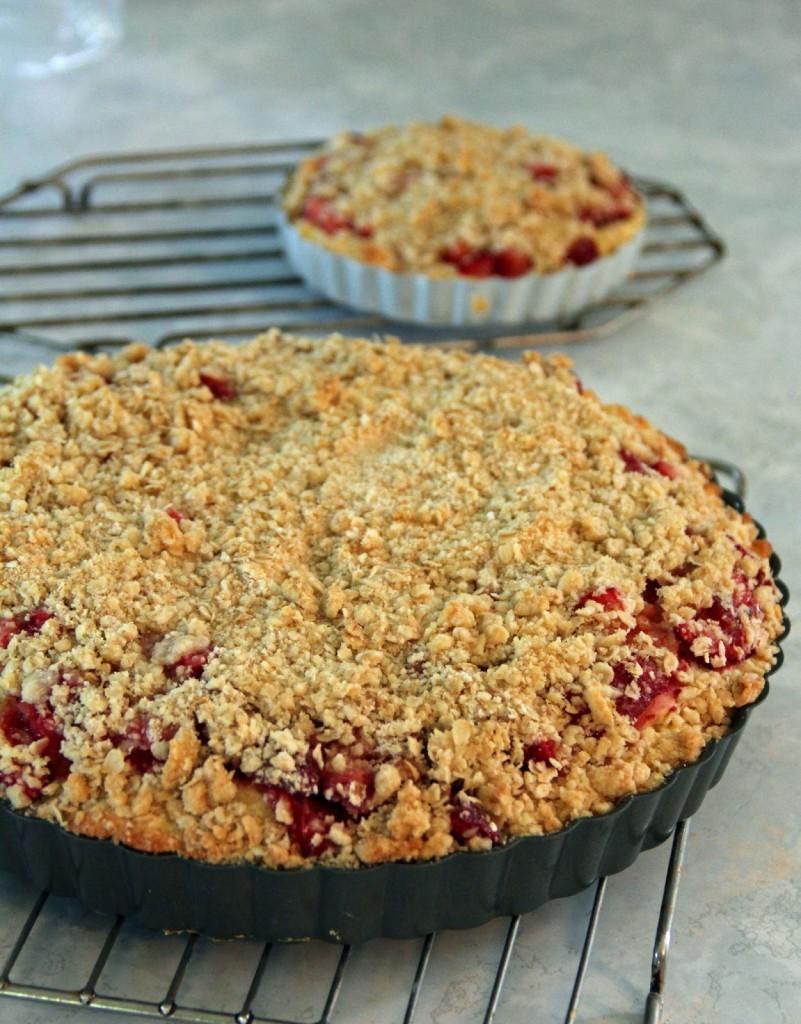 Gâteau crumble aux fraises5