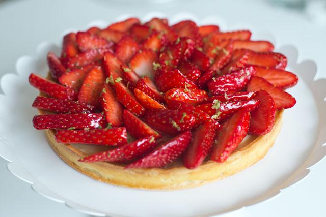 Tarte aux fraises1