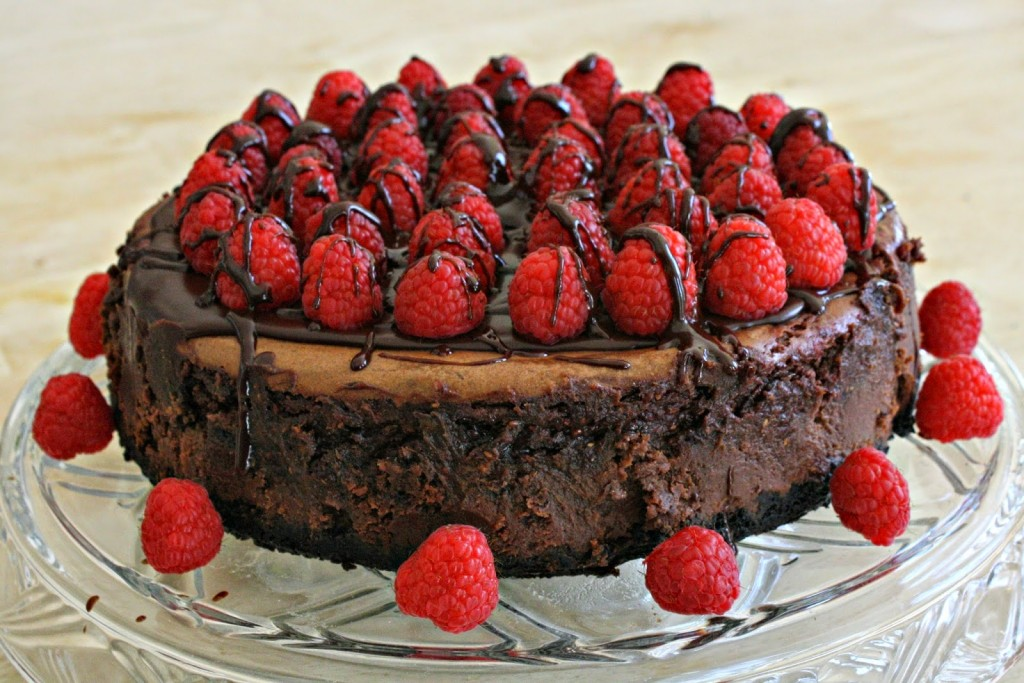 Cheesecake chocolat noir framboises1