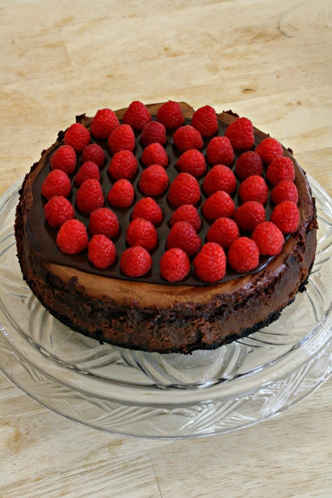 Cheesecake chocolat noir framboises4