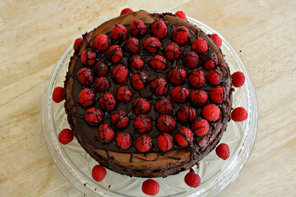 Cheesecake chocolat noir framboises5