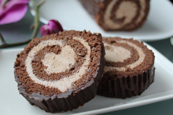 Buche de noel mousse chocolat marron