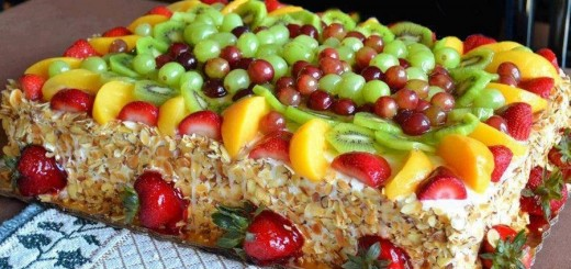 gâteau d'anniversaire aux fruits – gâteaux & délices